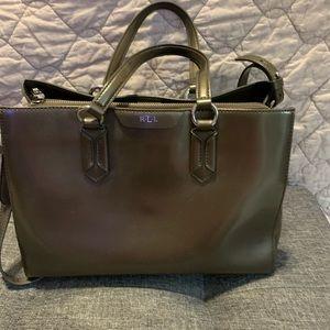 Ralph Lauren RLL dark gray handbag